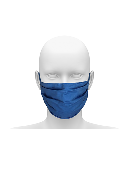 Picture of Community face mask with Earloops. Guaranteed for 50 washes - Hospital Blue