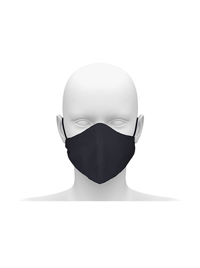 Picture of Community face mask with cord tie. Guaranteed for 50 washes - Black