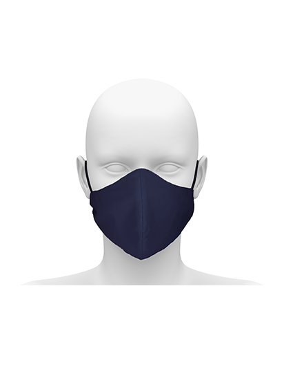Picture of Community face mask with cord tie. Guaranteed for 50 washes - Navy