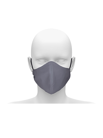 Picture of Community face mask with cord tie. Guaranteed for 50 washes. - Hospital Grey