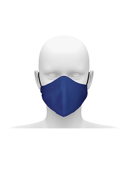 Picture of Community face mask with cord tie. Guaranteed for 50 washes - Royal Blue