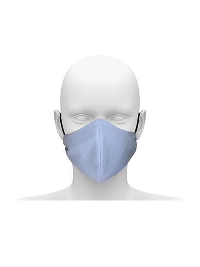 Picture of Community face mask with cord tie. Guaranteed for 50 washes. - Sky Blue