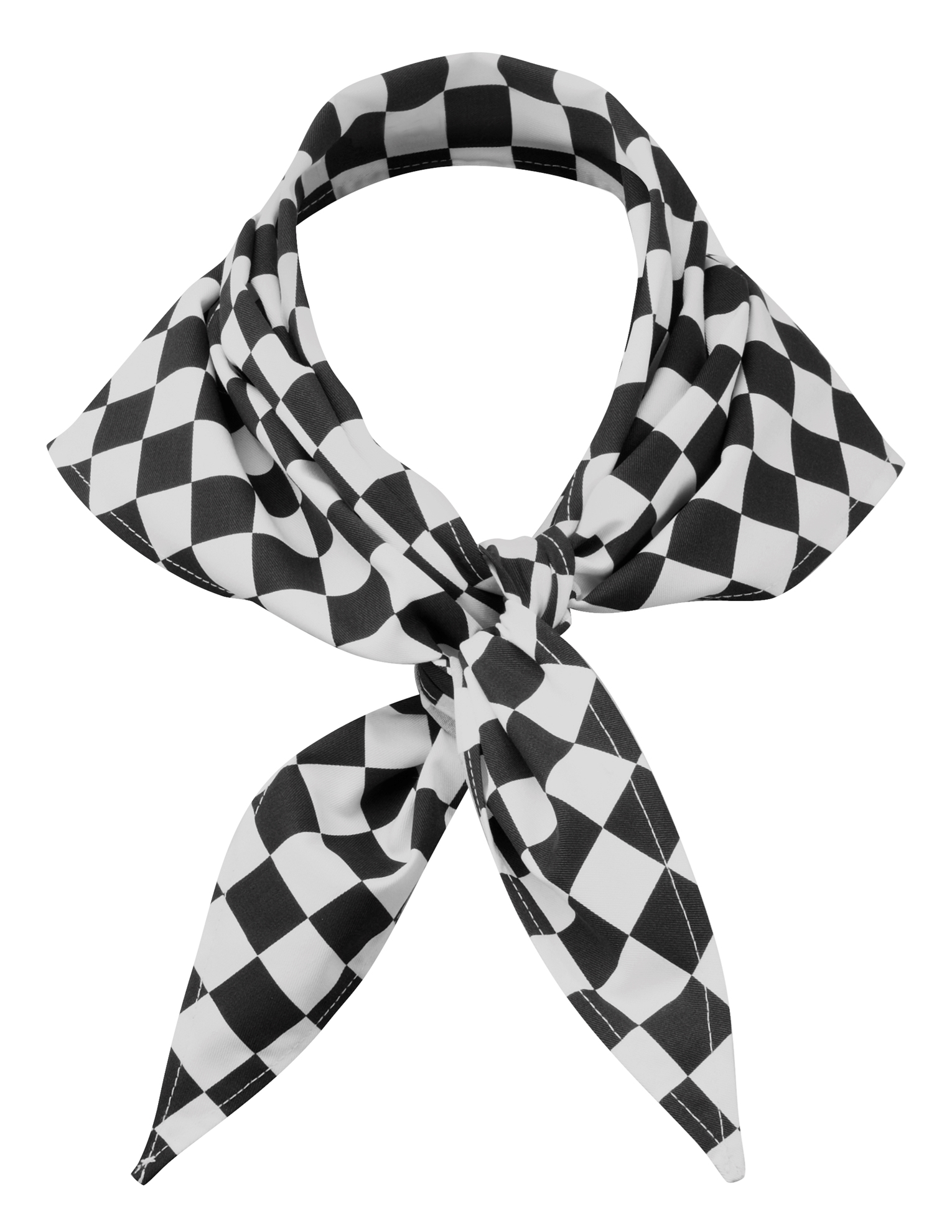 Picture of Chefs large check scarf - Black/White
