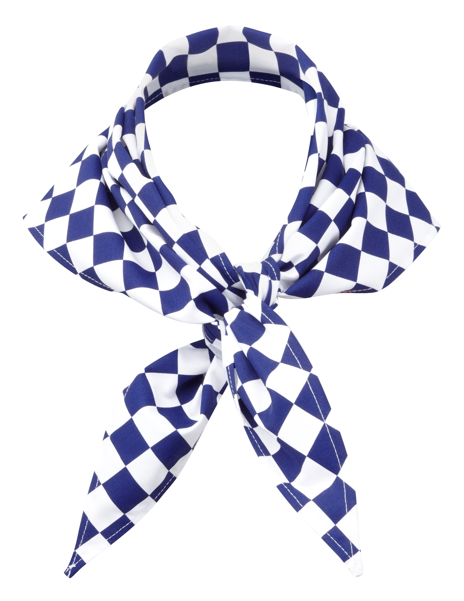 Picture of Chefs large check scarf - Blue/White