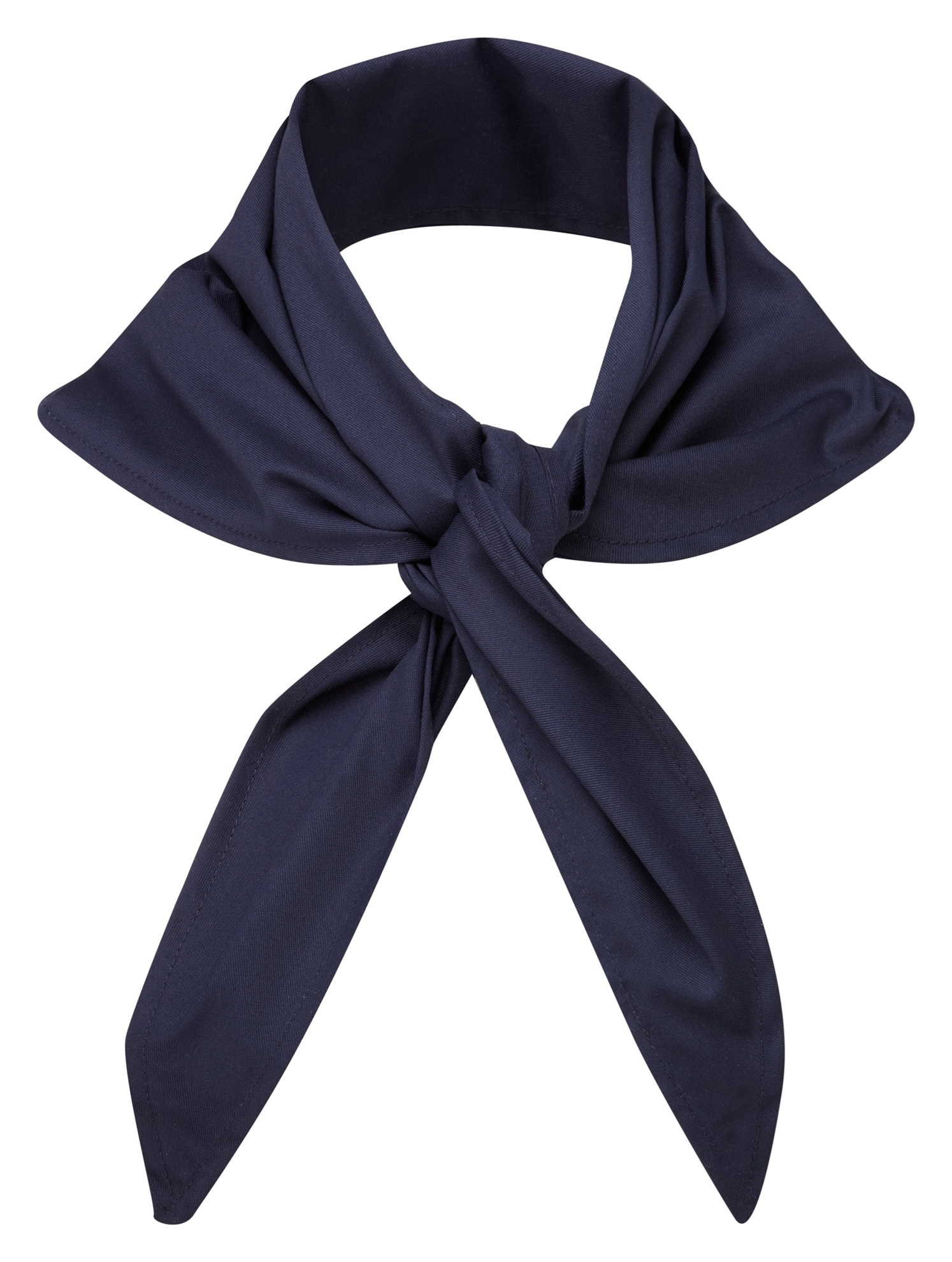 Picture of Plain coloured chefs necktie - Navy