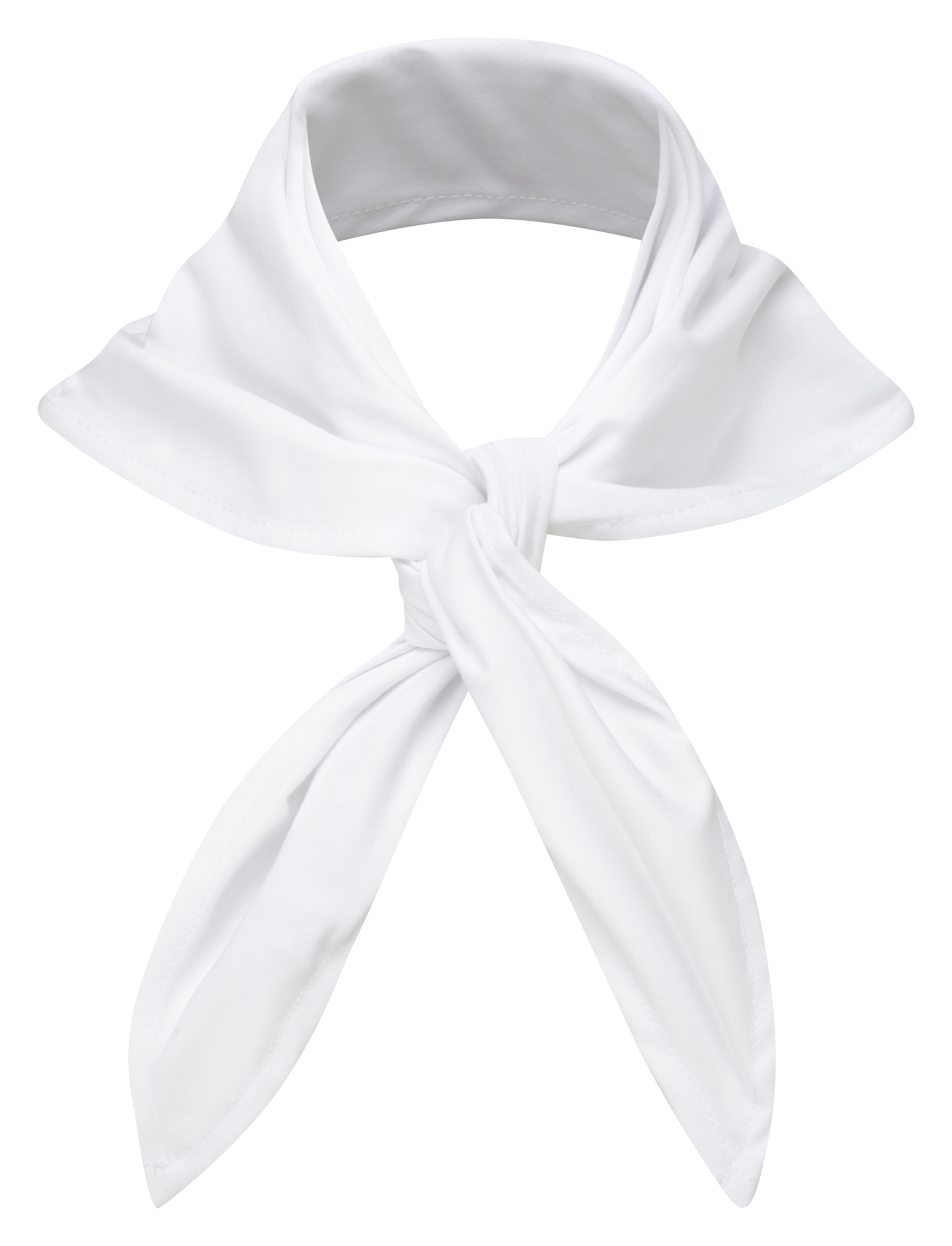 Picture of Plain coloured chefs necktie - White