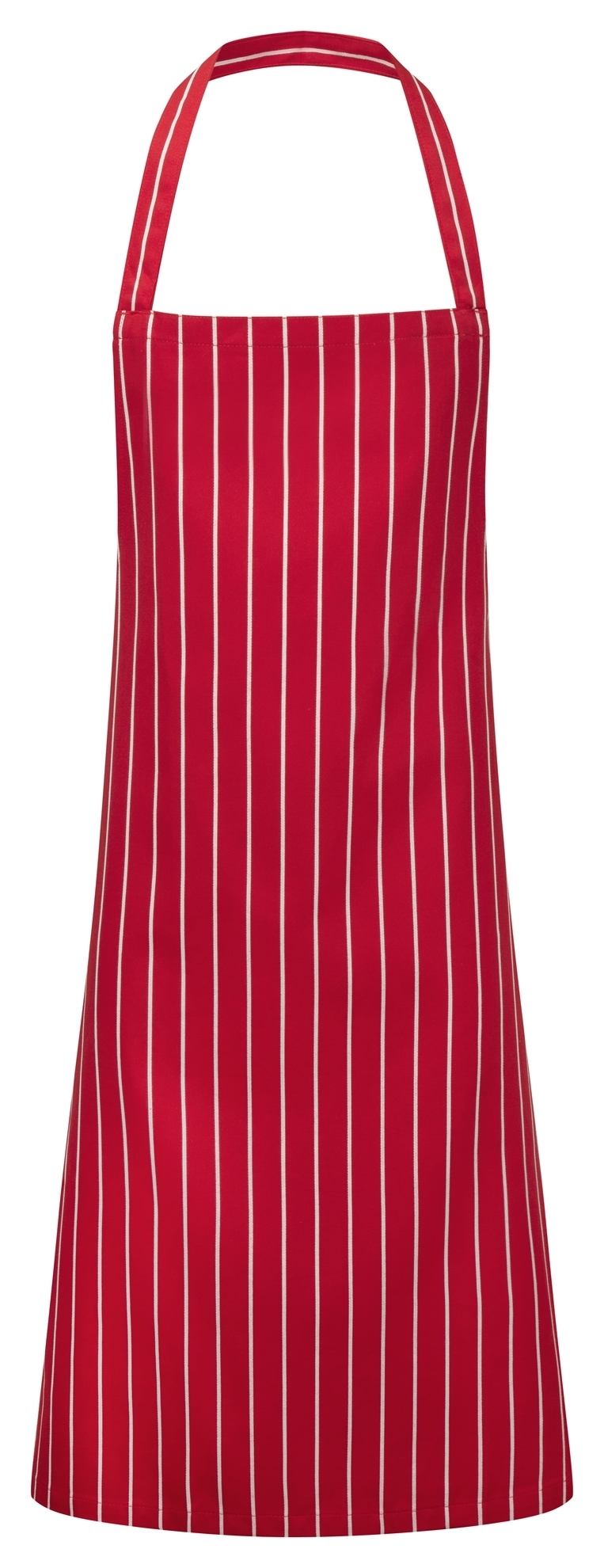 Picture of Chefs long apron - Red / White