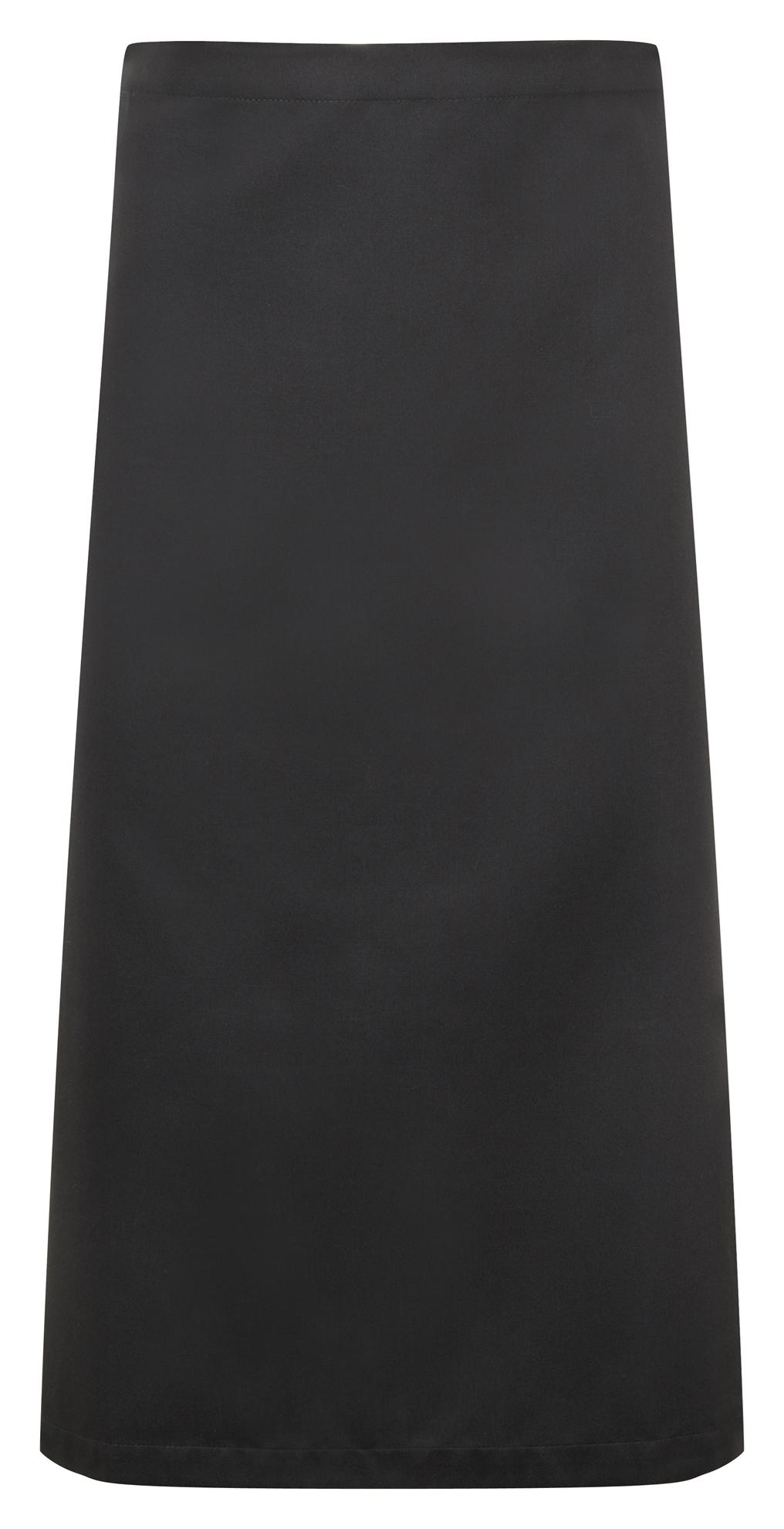 Picture of Chefs long waist apron - Black