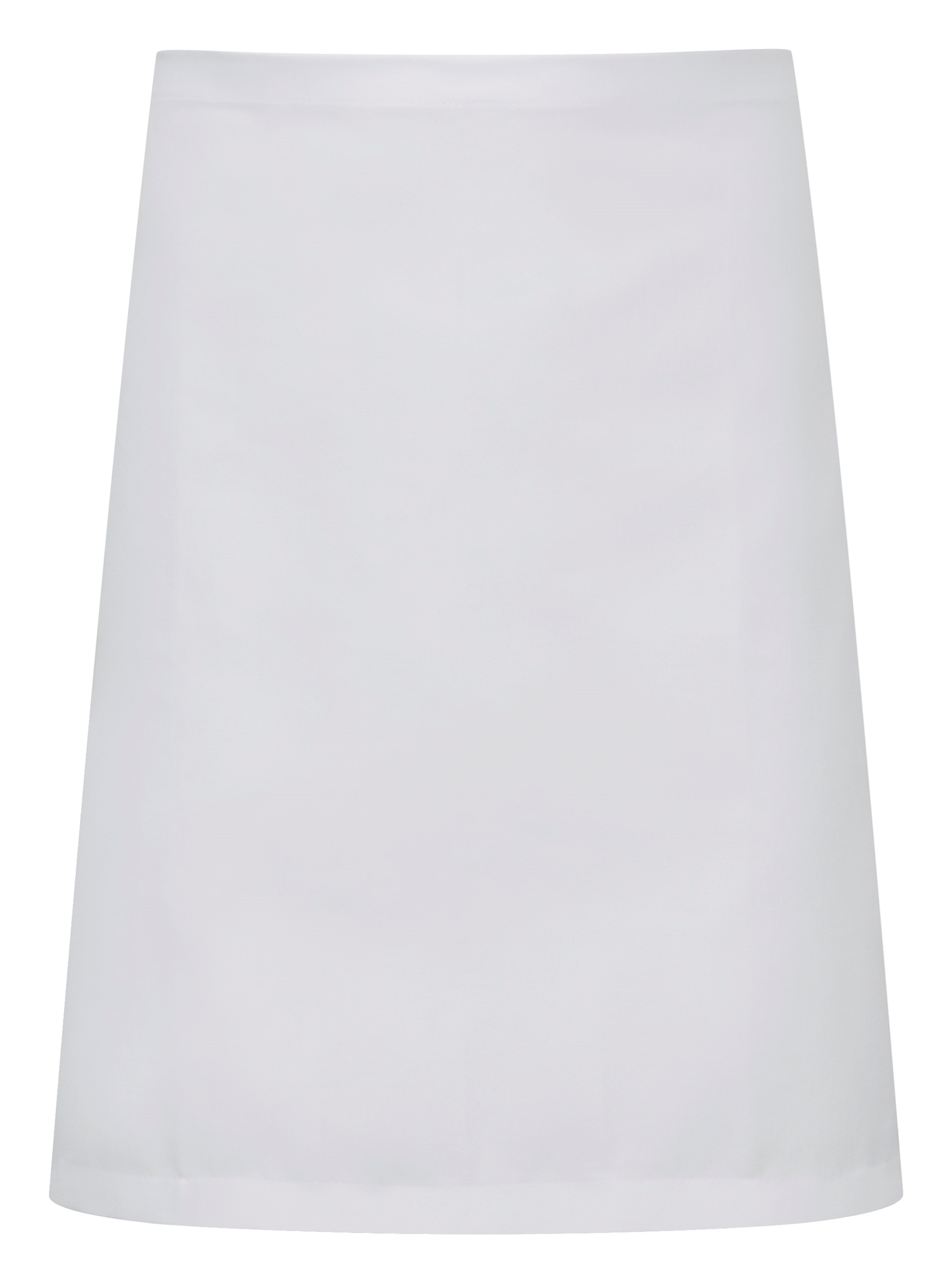 Picture of Chefs short waist apron - White