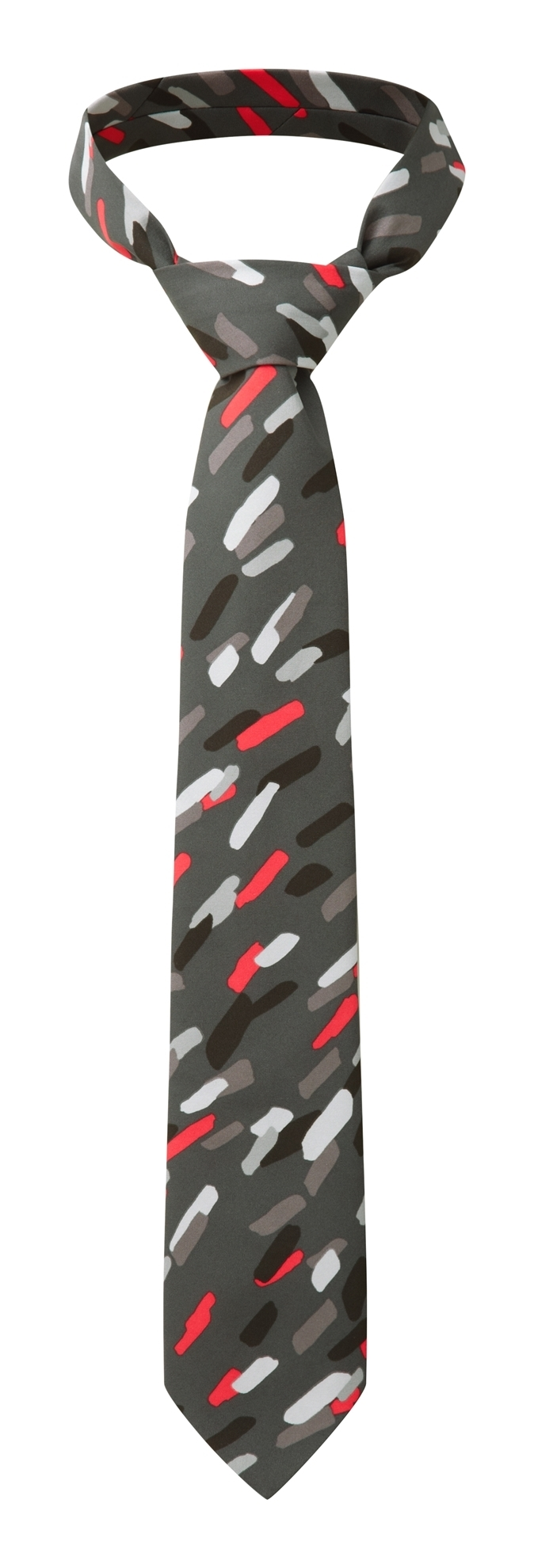 Picture of Print Tie - Grey/Red Amelia print