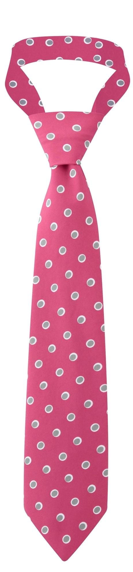 Picture of Print Tie - Pink/Grey Ella Print