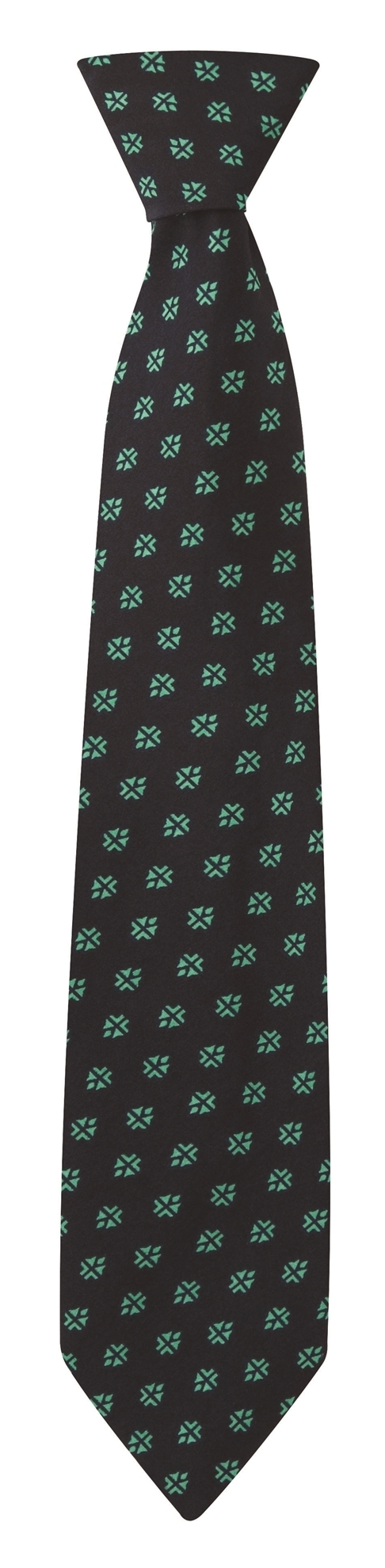 Picture of Print Tie - Navy/Aqua Fleur Print