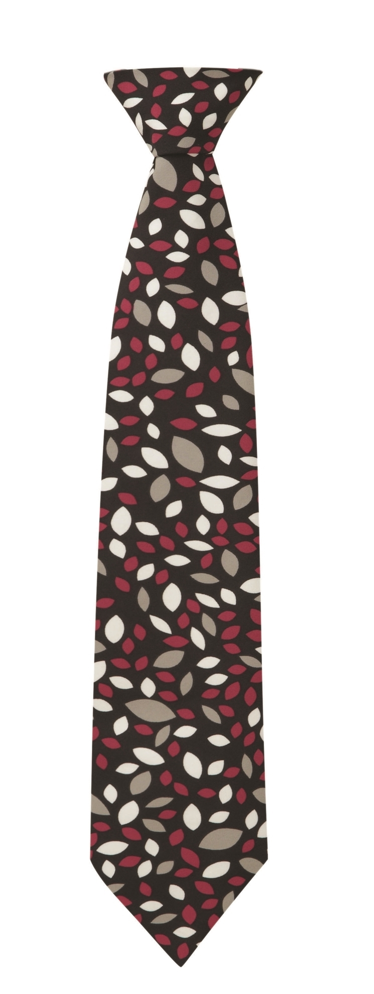 Picture of Print Tie - Black/Cerise Lauren Print