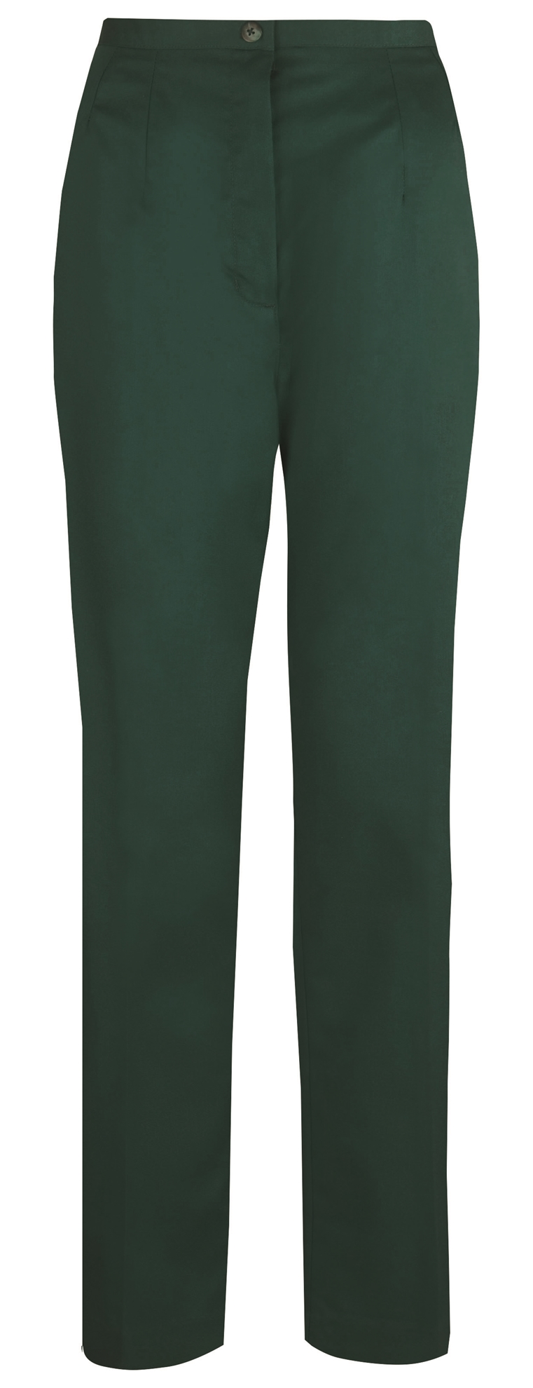Picture of Flexi-Stretch Straight Leg Trousers - Bottle Green