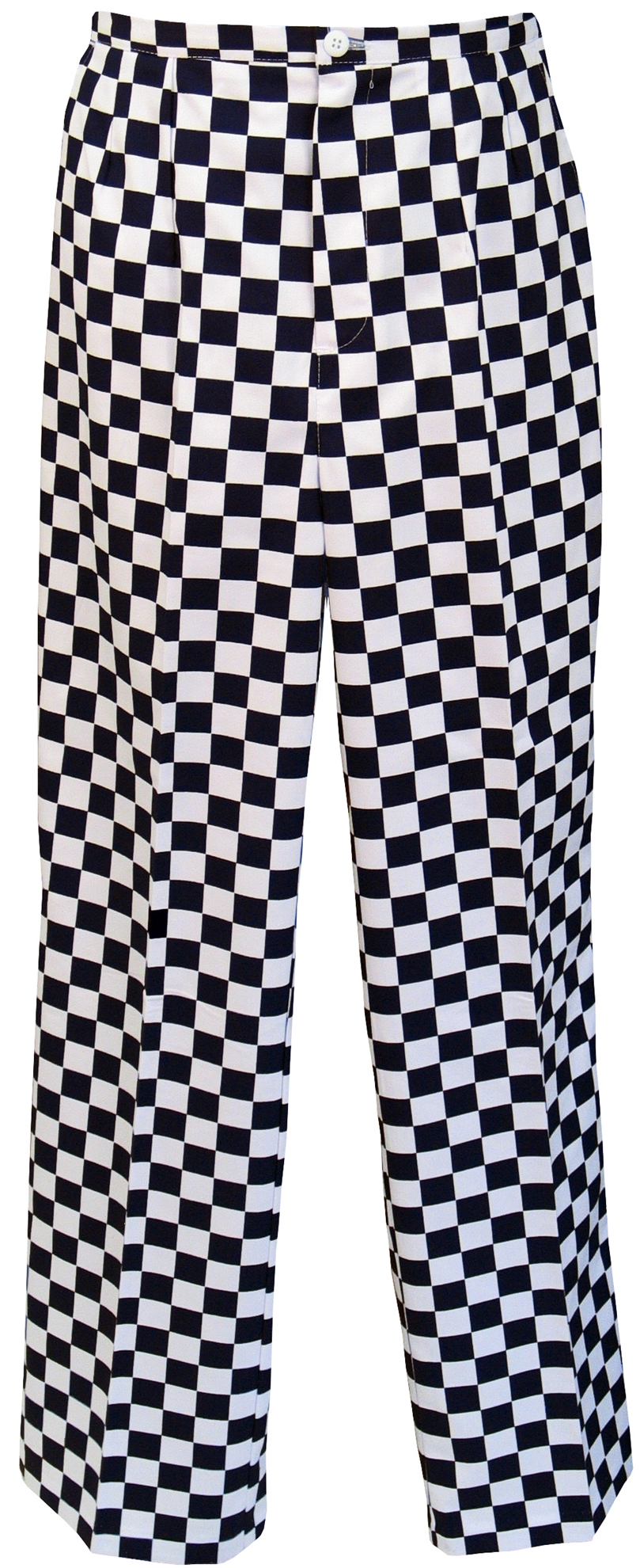 Picture of Unisex Chefs Large Check Trousers - Black/White