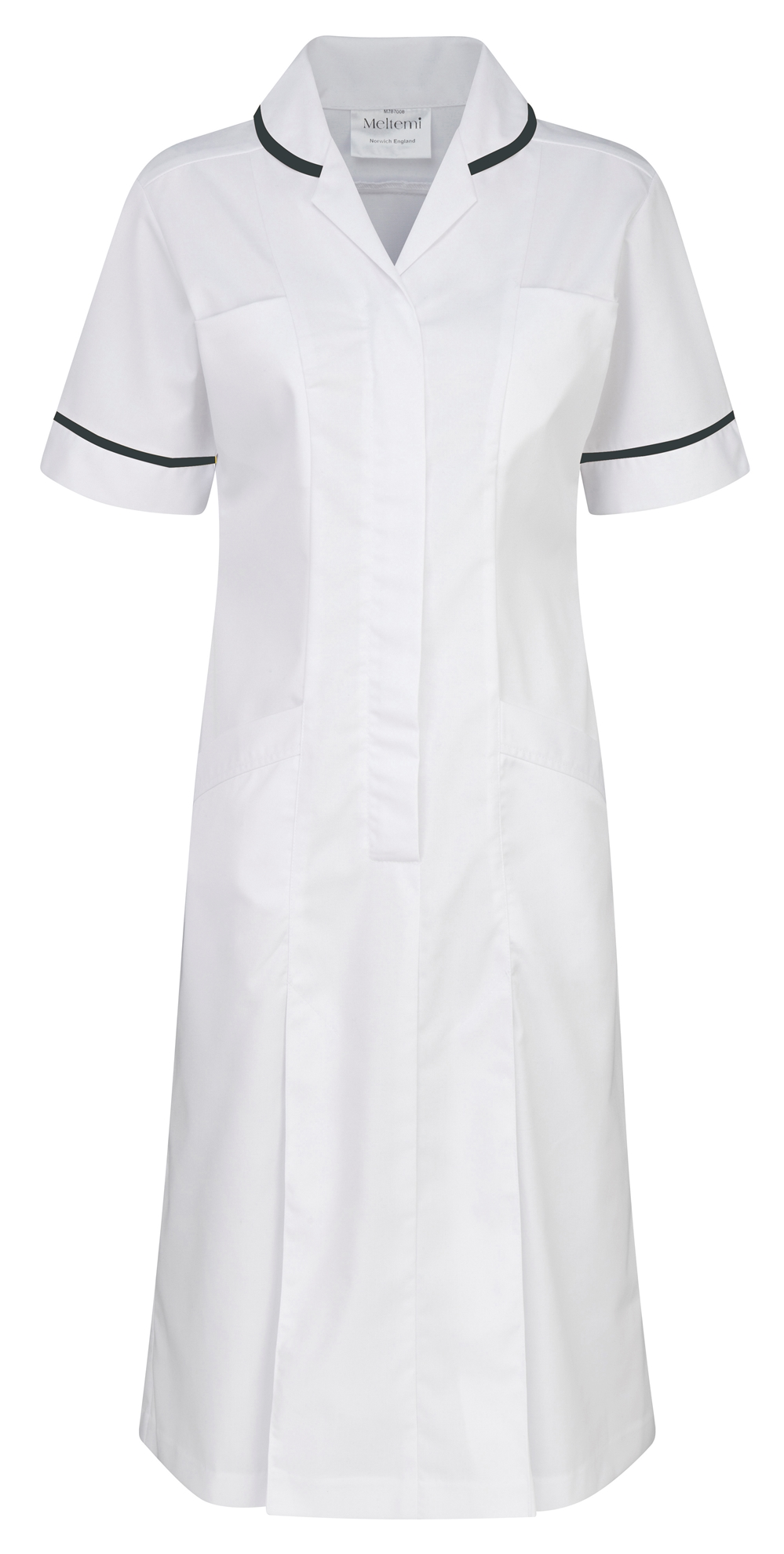 Picture of Plain Colour Dress - White/Navy
