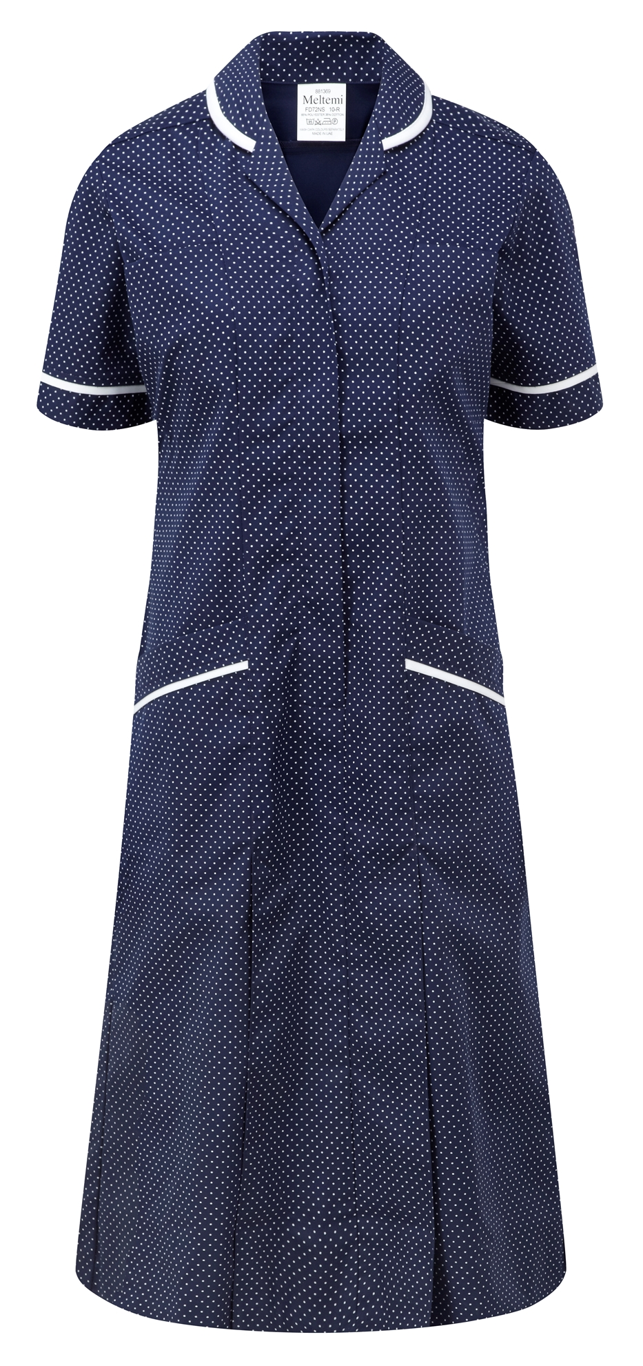 Picture of Professional Specialist Dress - Navy-White Spot/White