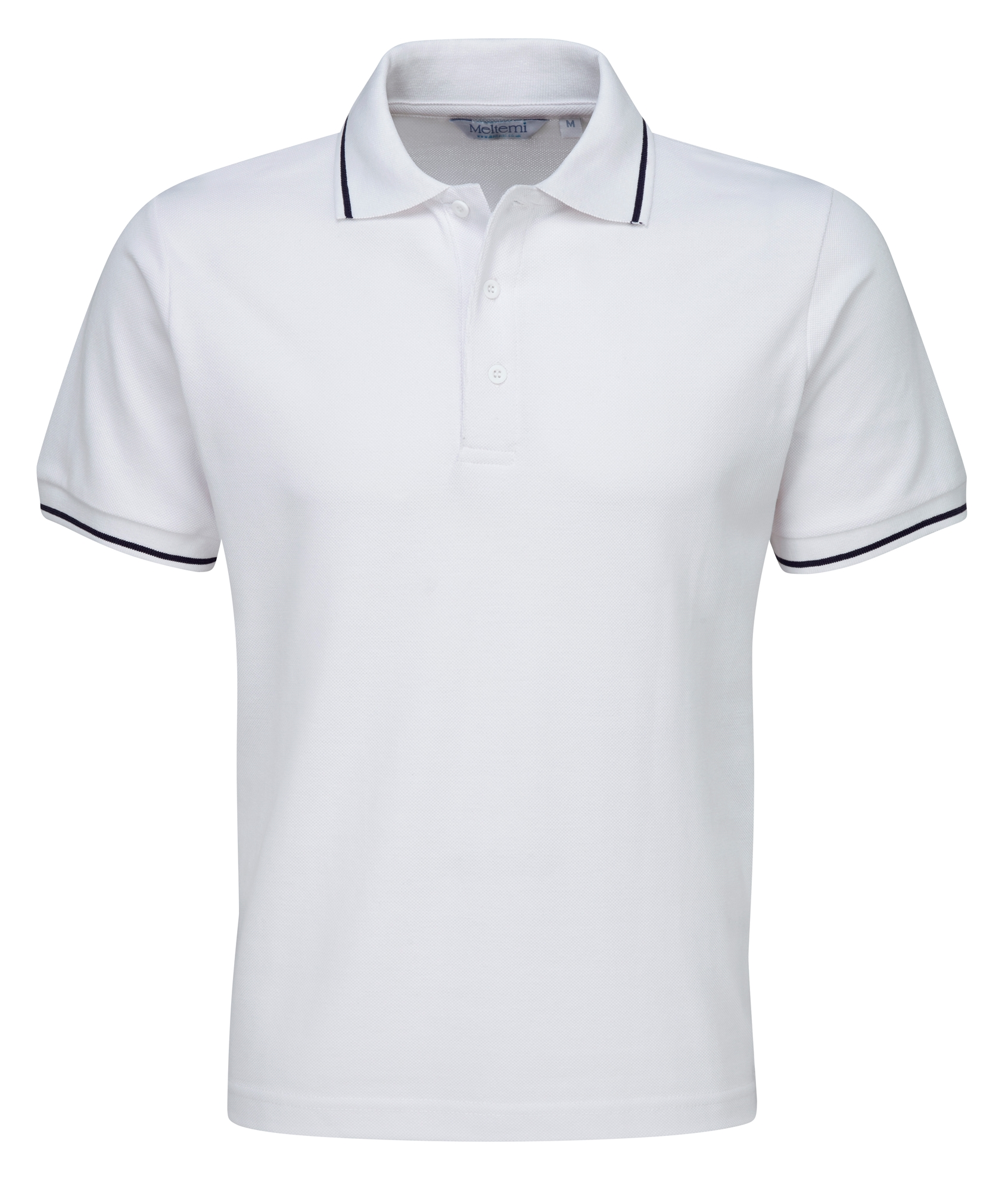 Picture of Single Tipped Polo Shirt - White/Navy