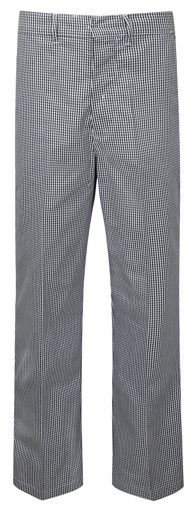 Picture of Unisex Chefs Gingham Trouser - Black/White
