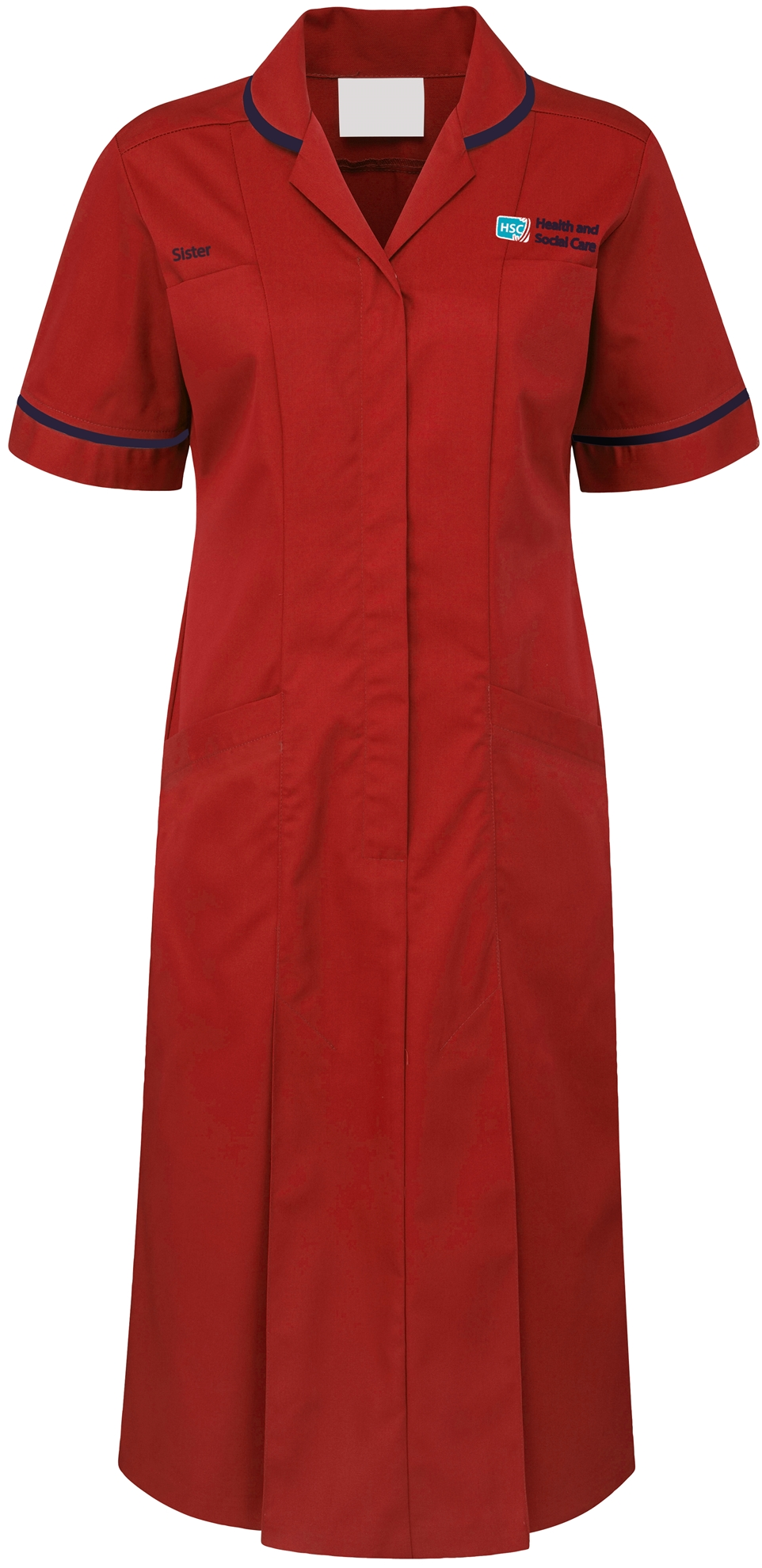 Picture of Plain Colour Dress - Red/Navy