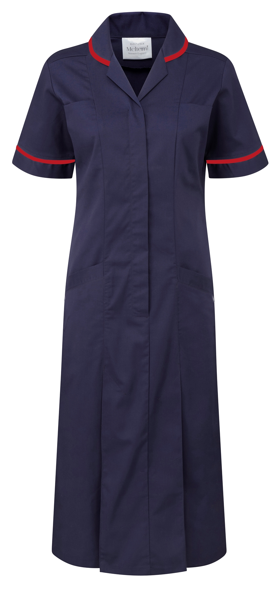 Picture of Plain Colour Dress - Navy/Red