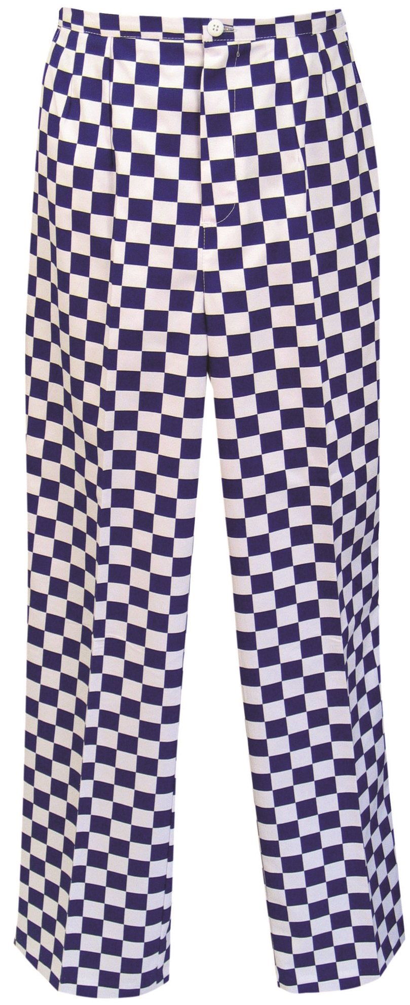 Picture of Unisex Chefs Gingham Trouser - Blue/White