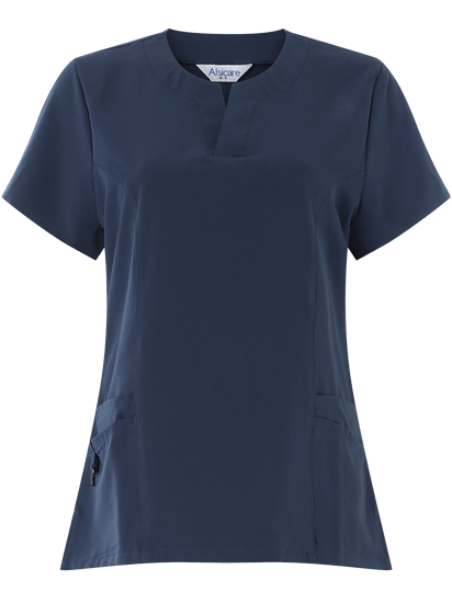 Picture of Female 4-Way Stretch Scrub Tunic - Navy