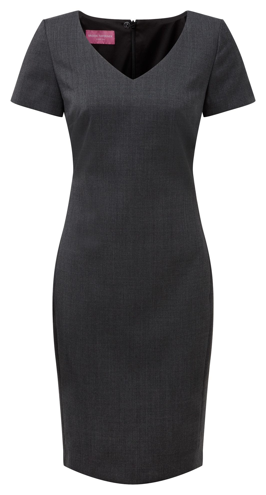 Picture of V Neck Corinthia Shift Dress - Mid Grey