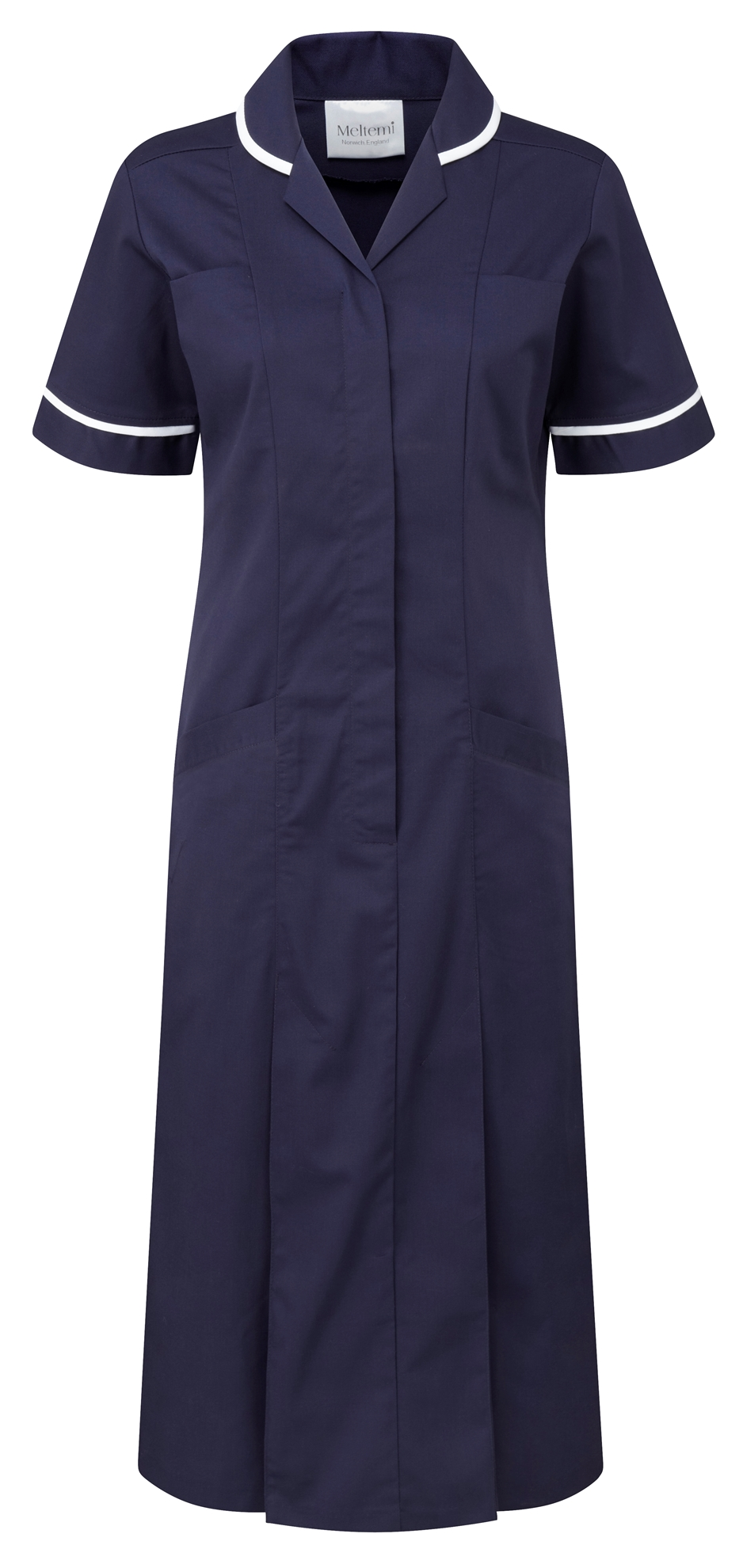 Picture of Plain Colour Dress - Navy/White