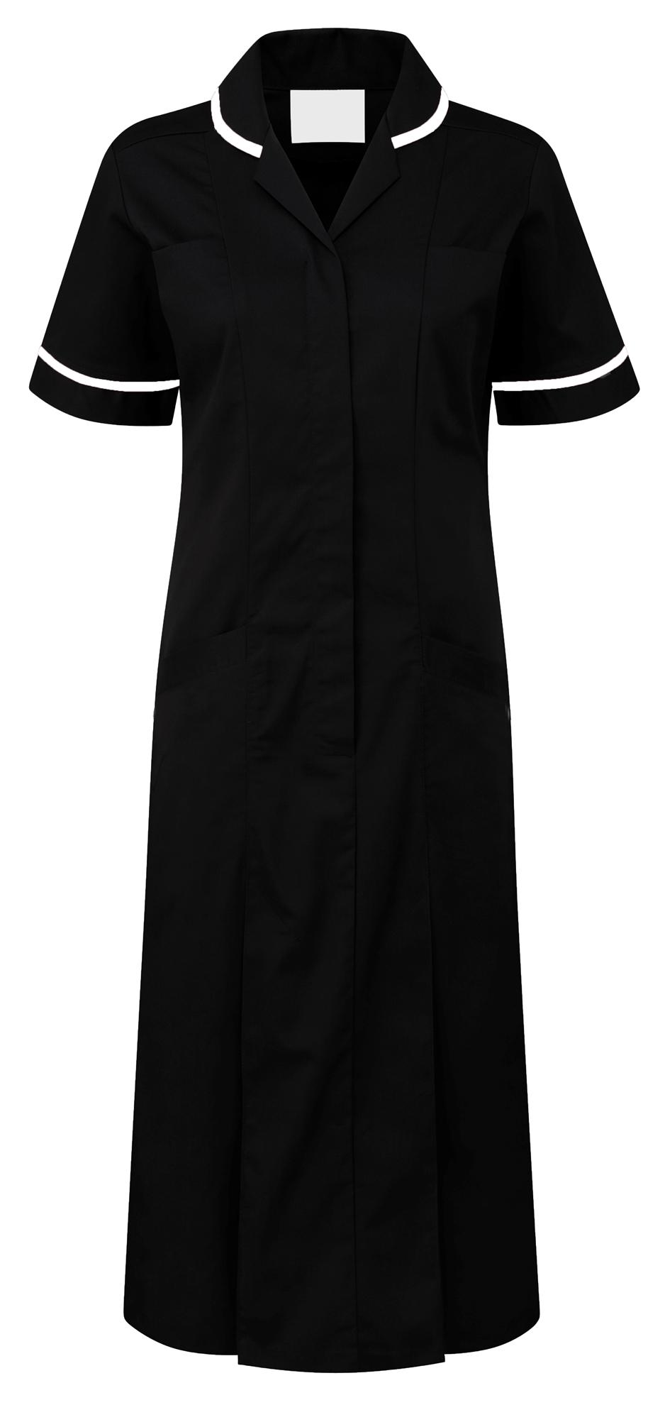 Picture of Plain Colour Dress - Black/White