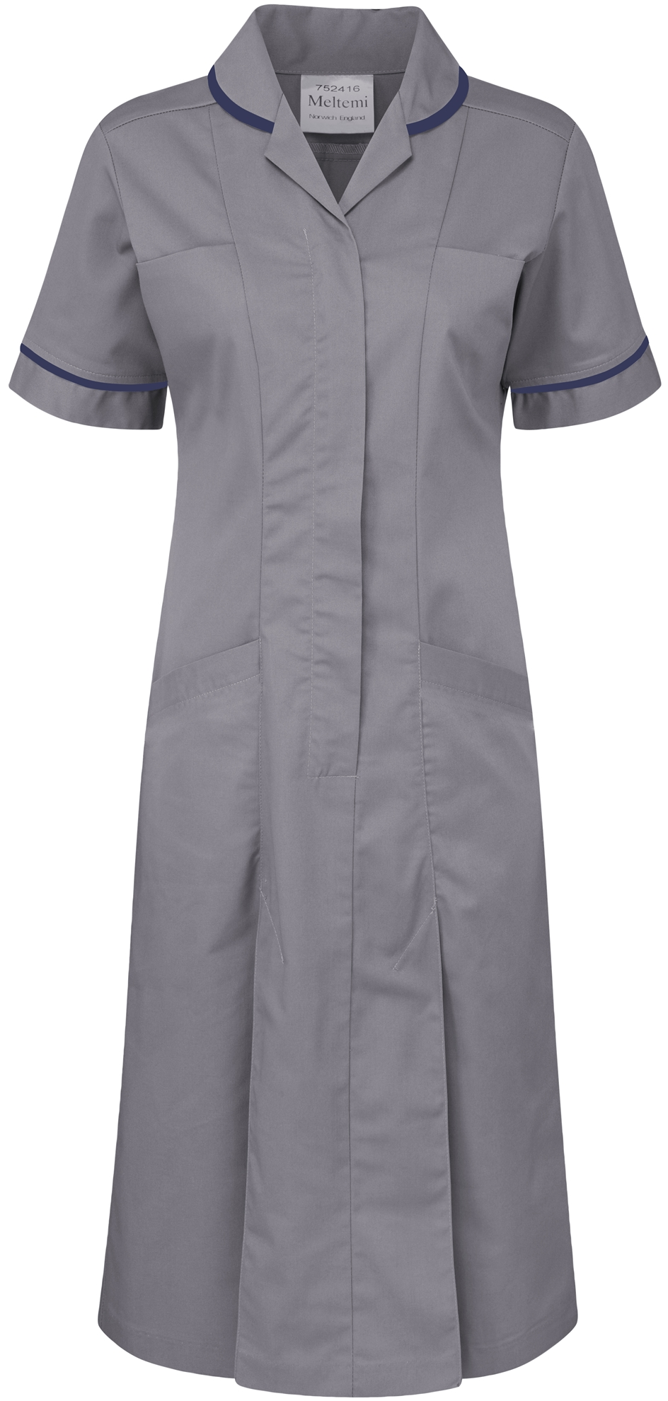 Picture of Plain Colour Dress - Hospital Grey/Navy