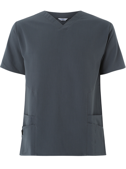 Picture of Male 4-Way Stretch Scrub Tunic - Slate Grey