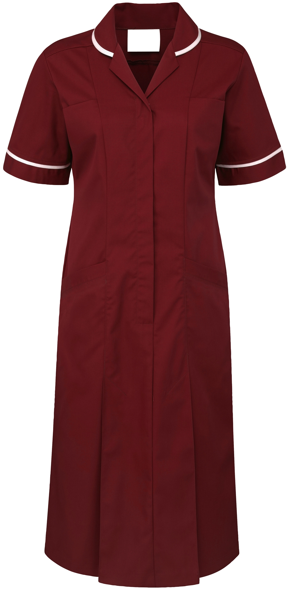 Picture of Plain Colour Dress - Burgundy/White