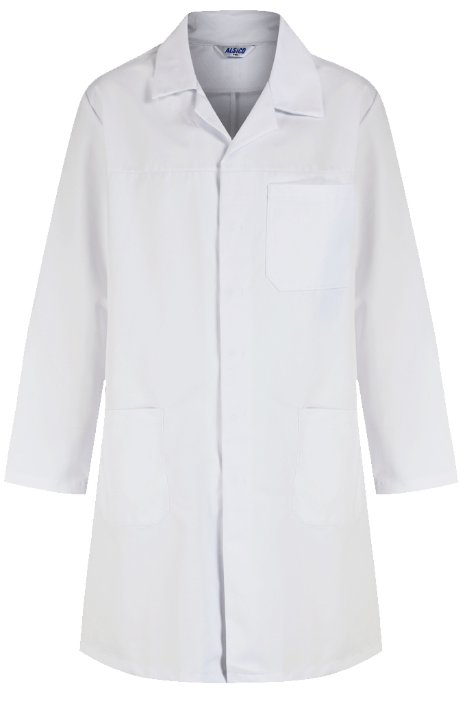 Picture of Polycotton Coat - White