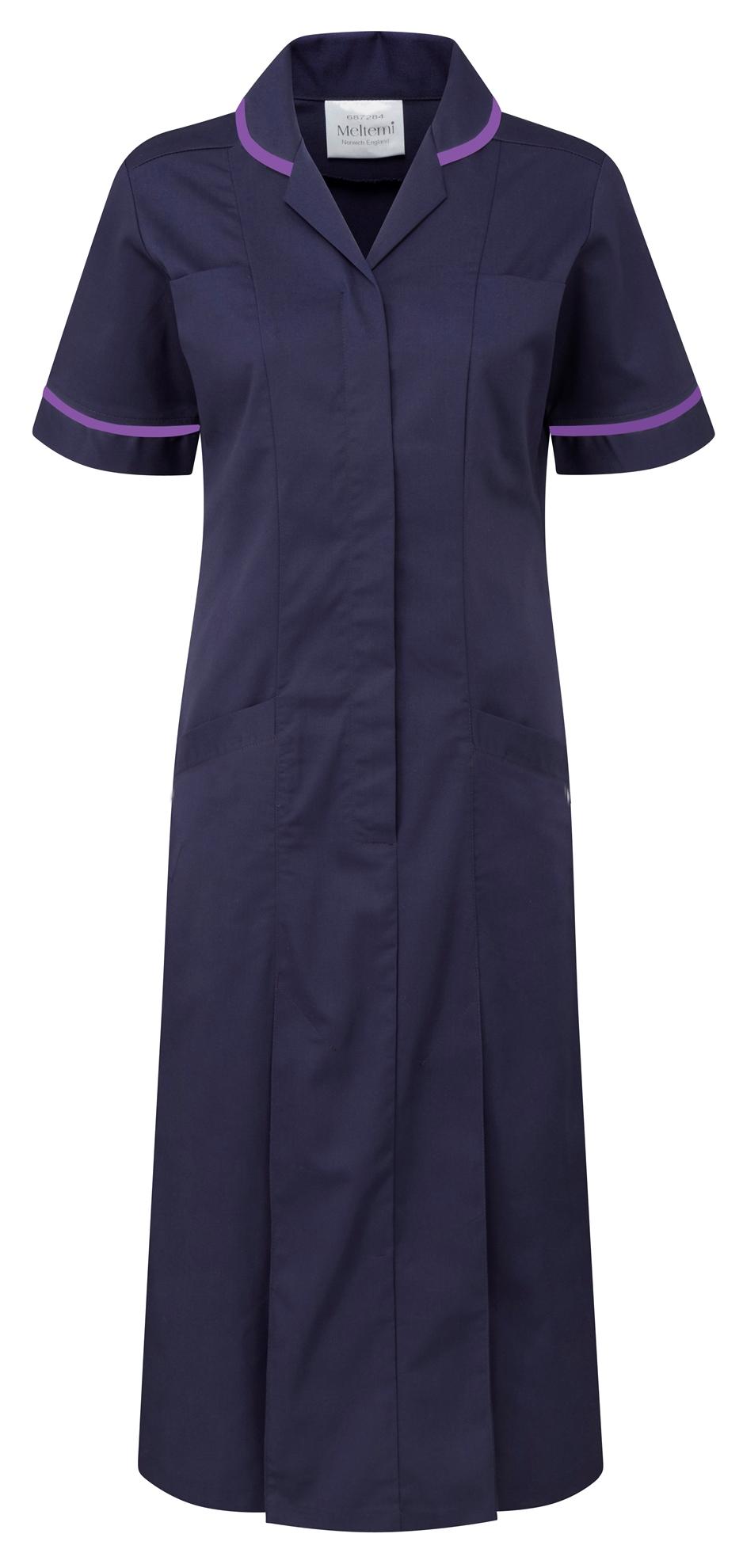 Picture of Plain Colour Dress - Navy/Purple