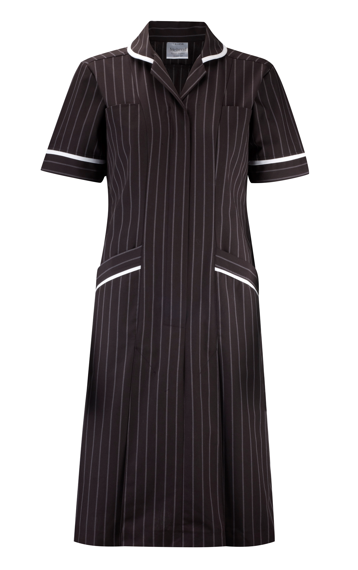 Picture of Professional Specialist Dress - Charcoal Pinstripe/White