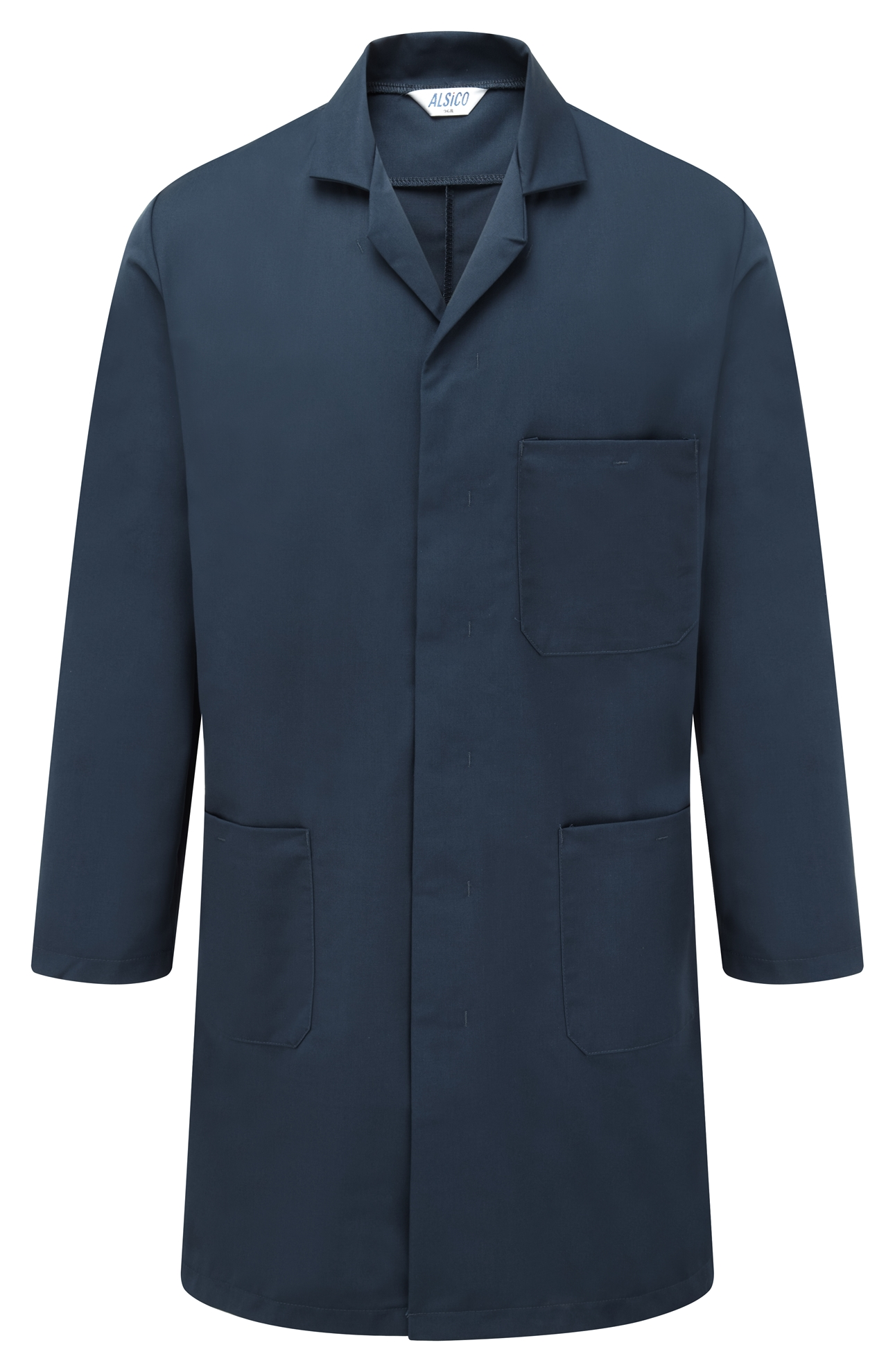 Picture of Polycotton Coat - Navy