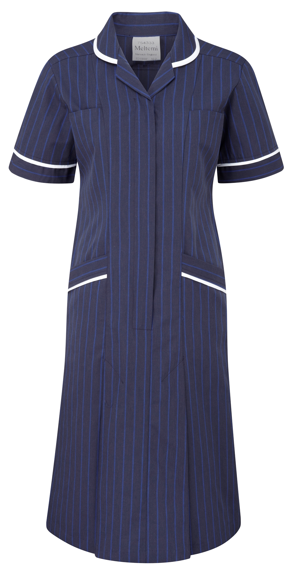 Picture of Professional Specialist Dress - Navy Pinstripe/White