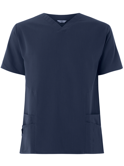 Picture of Male 4-Way Stretch Scrub Tunic - Navy