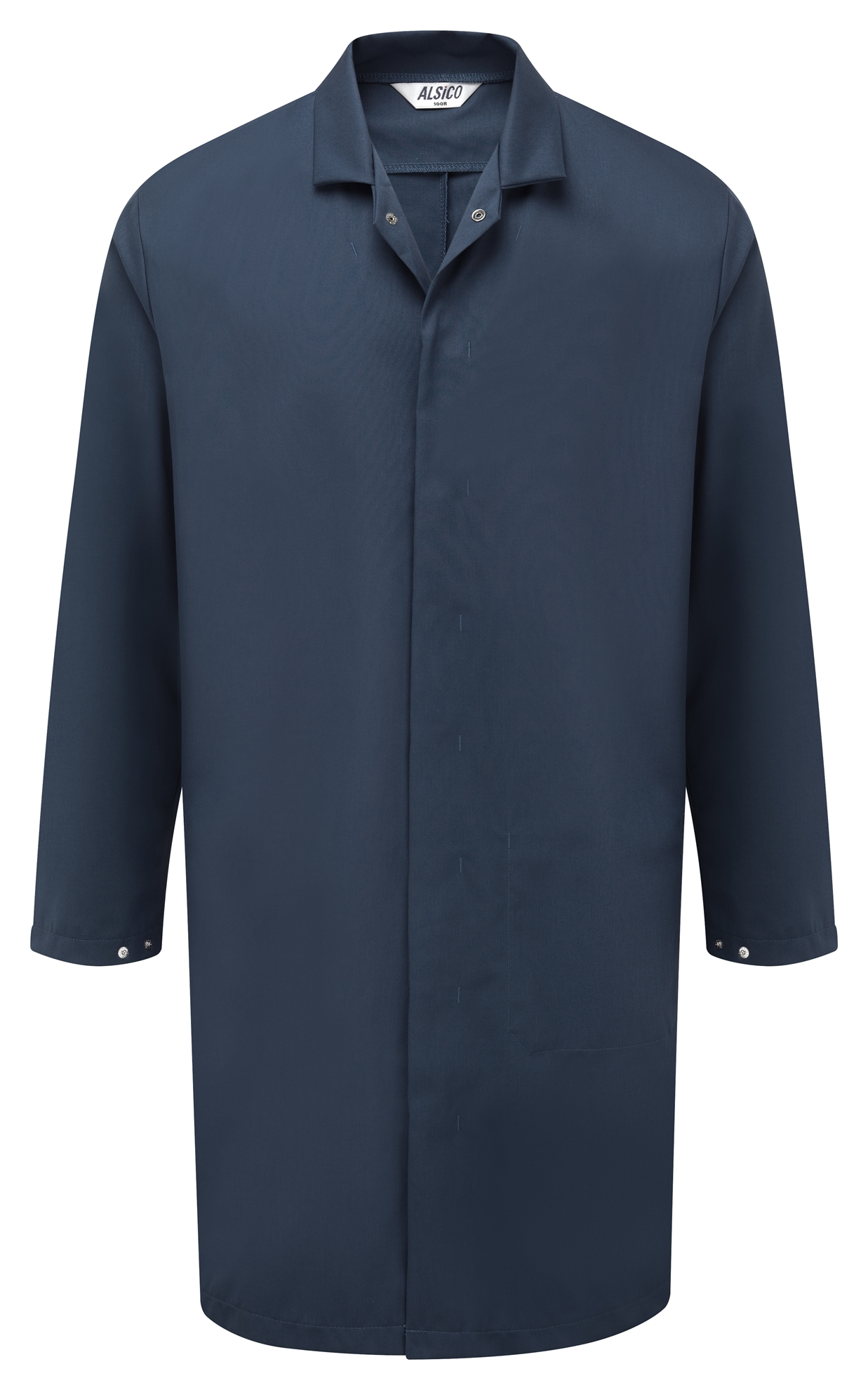 Picture of L/S Food Trade Coat with Inside Lower Pocket - Navy
