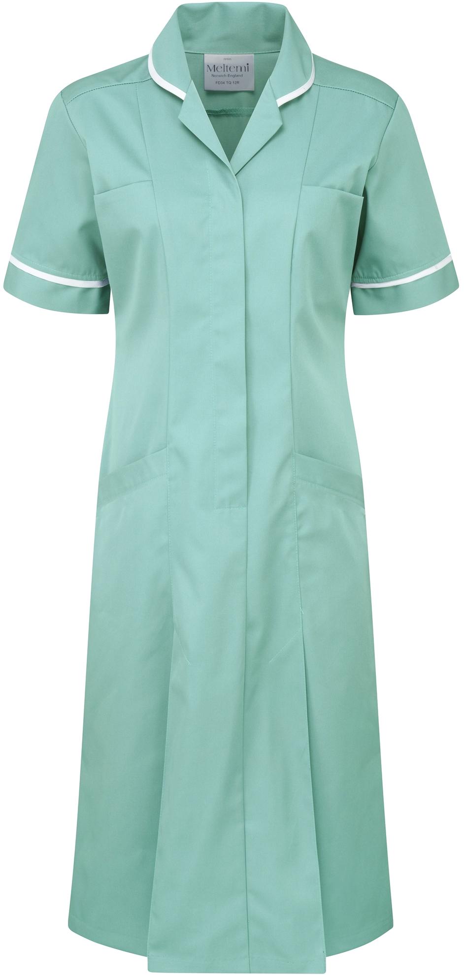 Picture of Plain Colour Dress - Eau De Nil/White