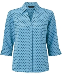 Picture of Semi-Fitted Polyester Blouse With 3/4 Sleeves