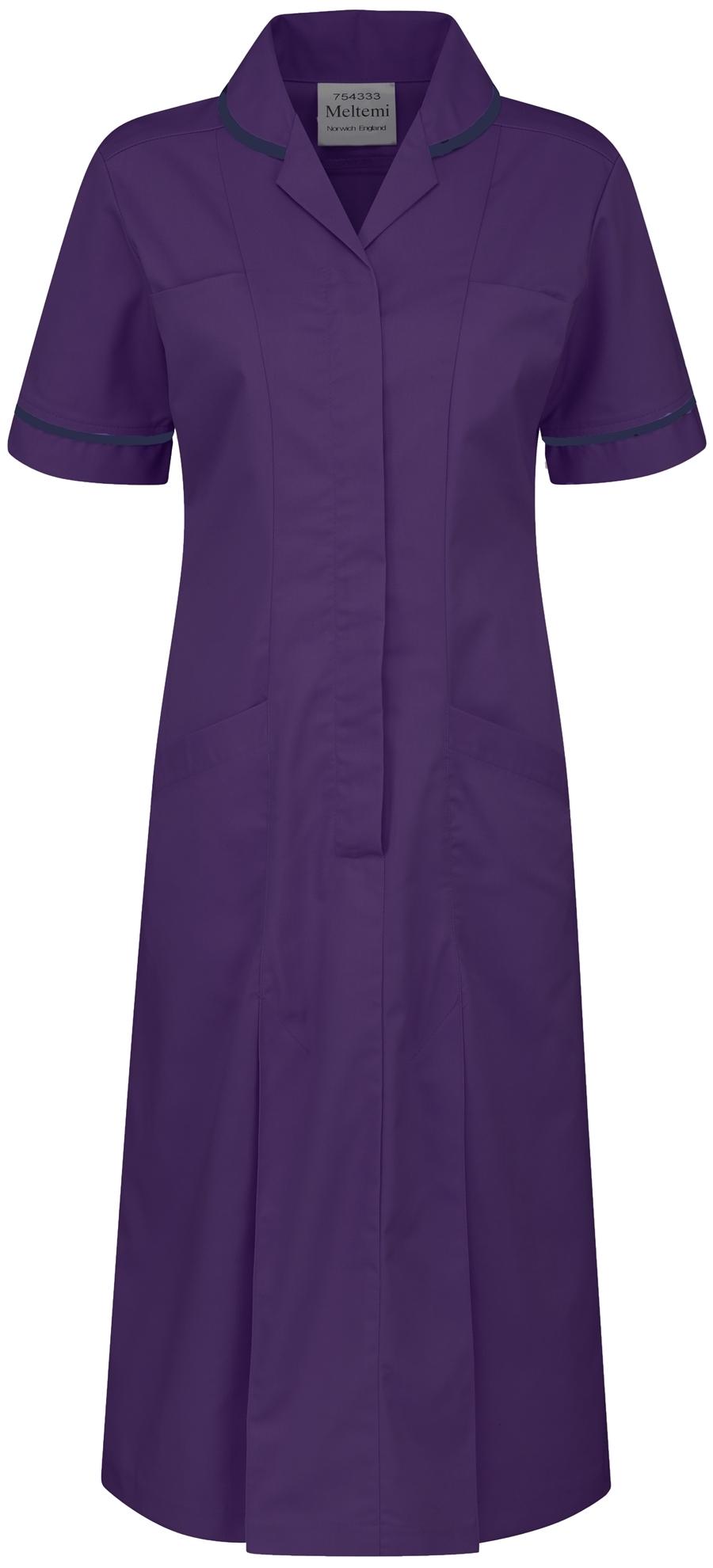 Picture of Plain Colour Dress - Purple/Navy
