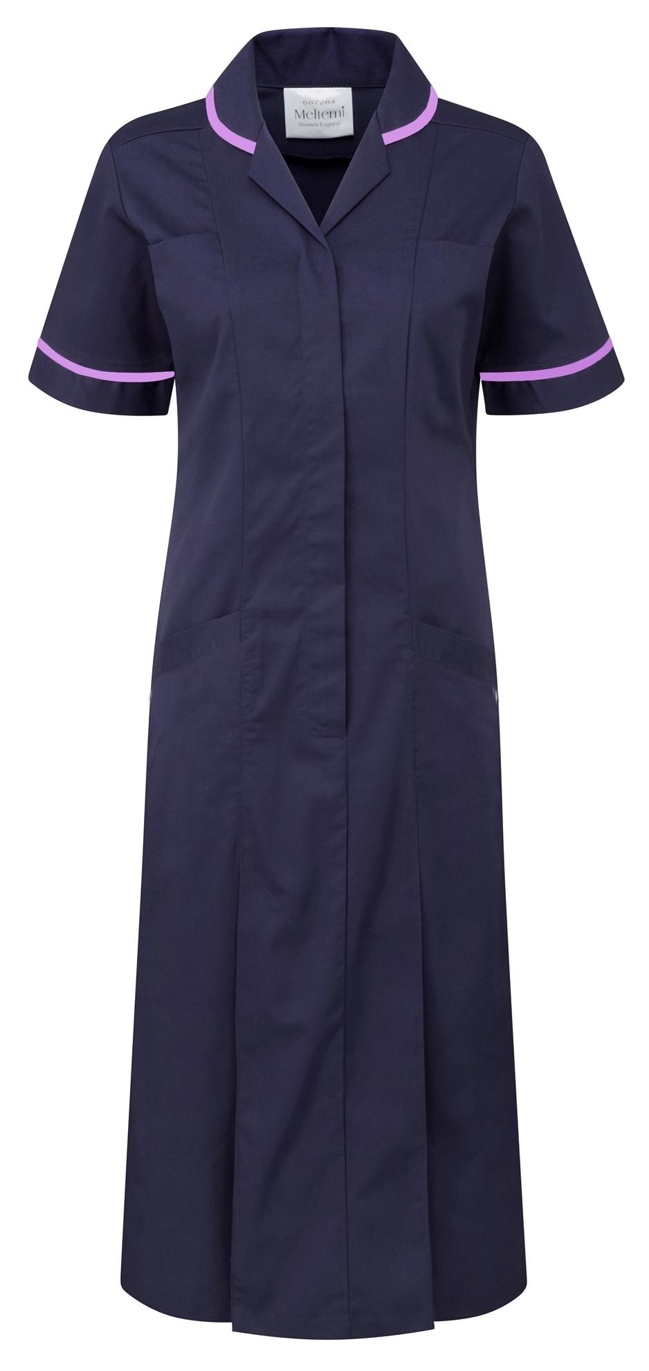 Picture of Plain Colour Dress - Navy/Lilac