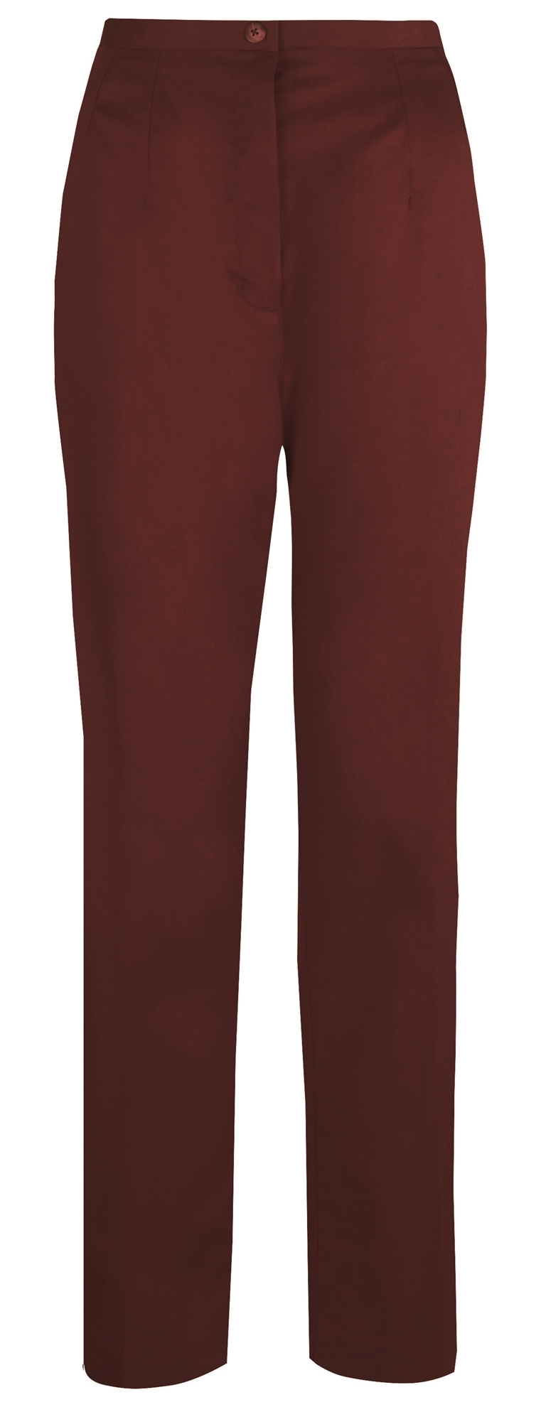 Picture of Flexi-Stretch Straight Leg Trousers - Burgundy