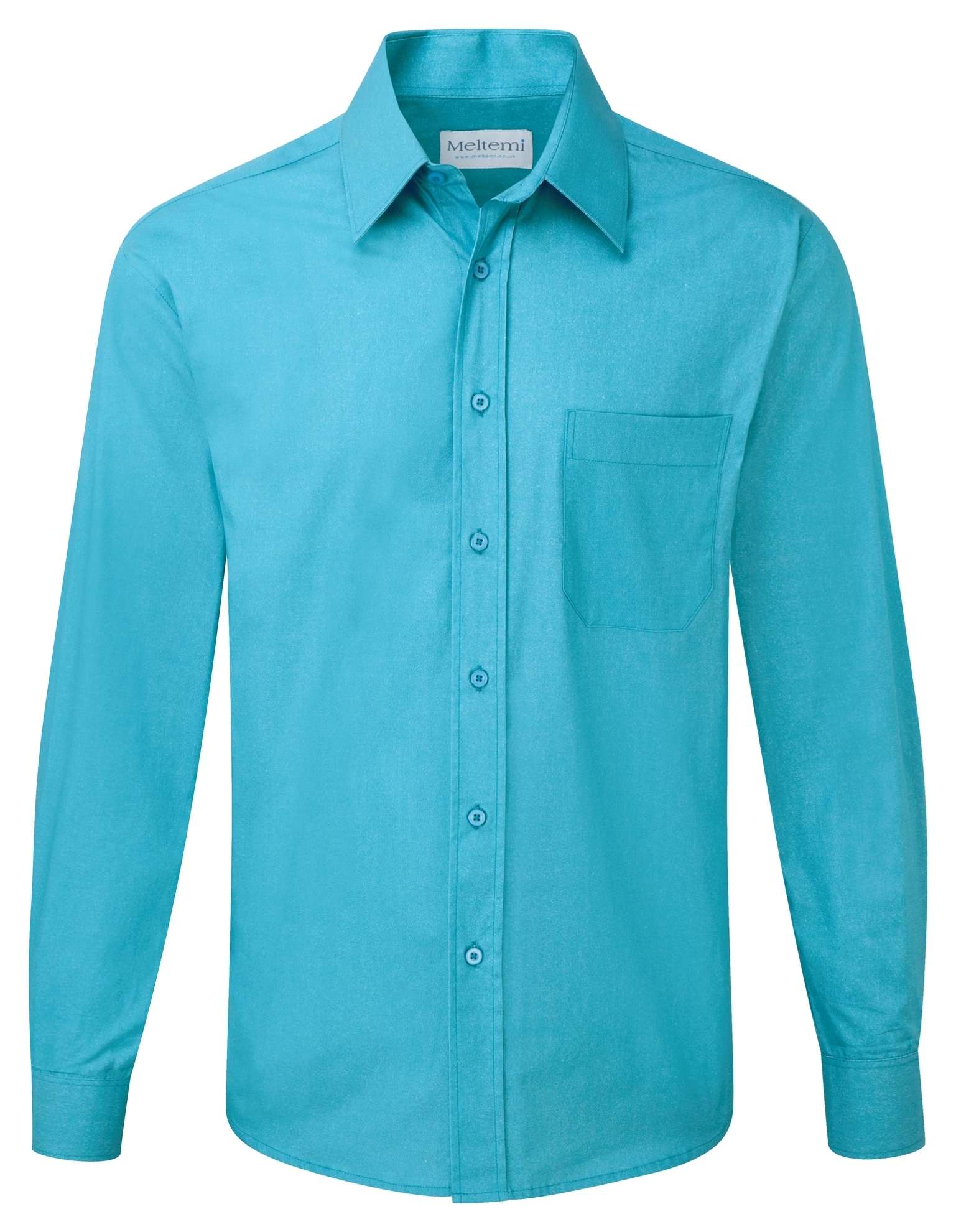 Picture of Male Long Sleeve Shirt - Plain Teal
