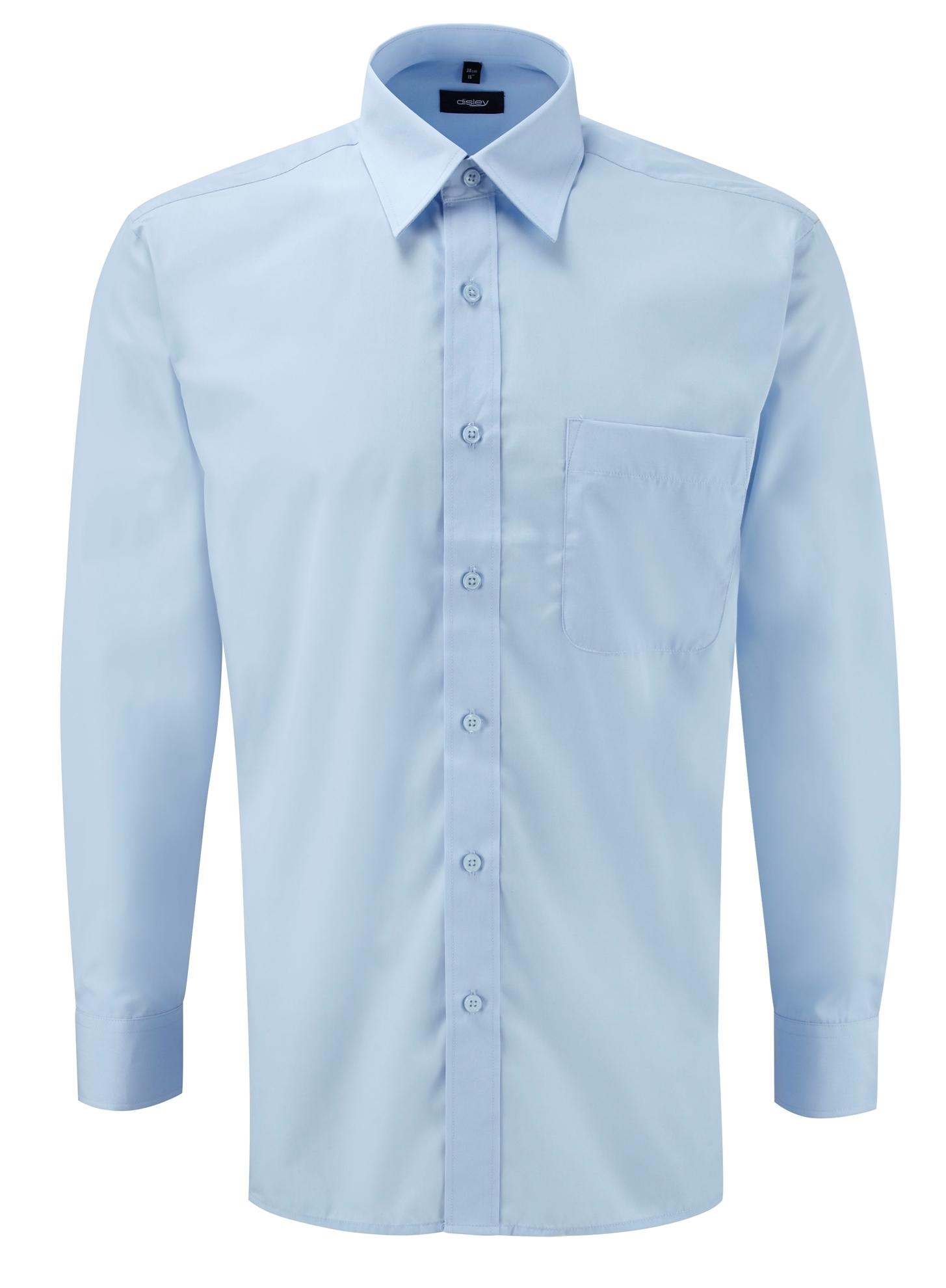 Picture of Male Long Sleeve Shirt - Plain Light Blue