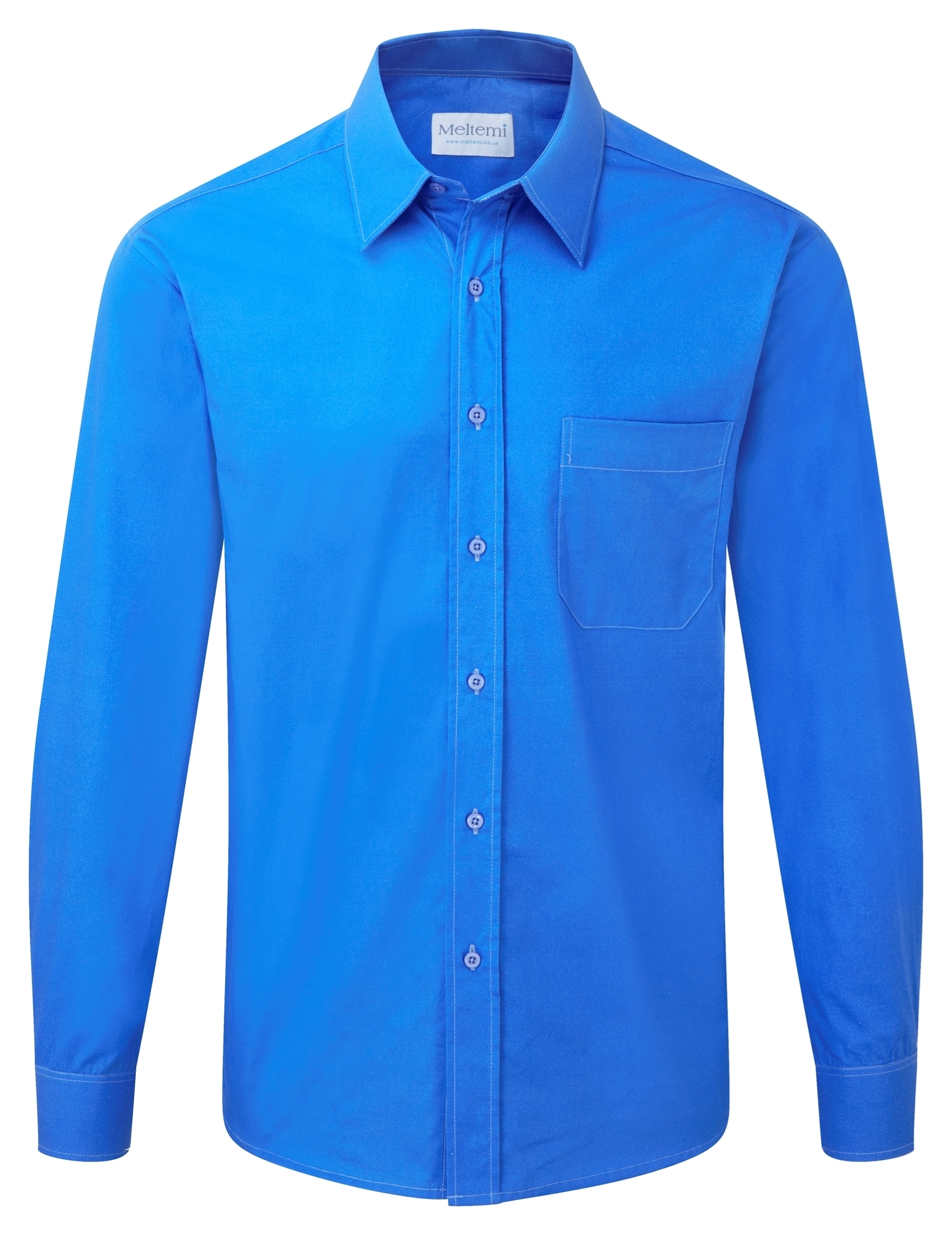 Picture of Male Long Sleeve Shirt - Plain Azure