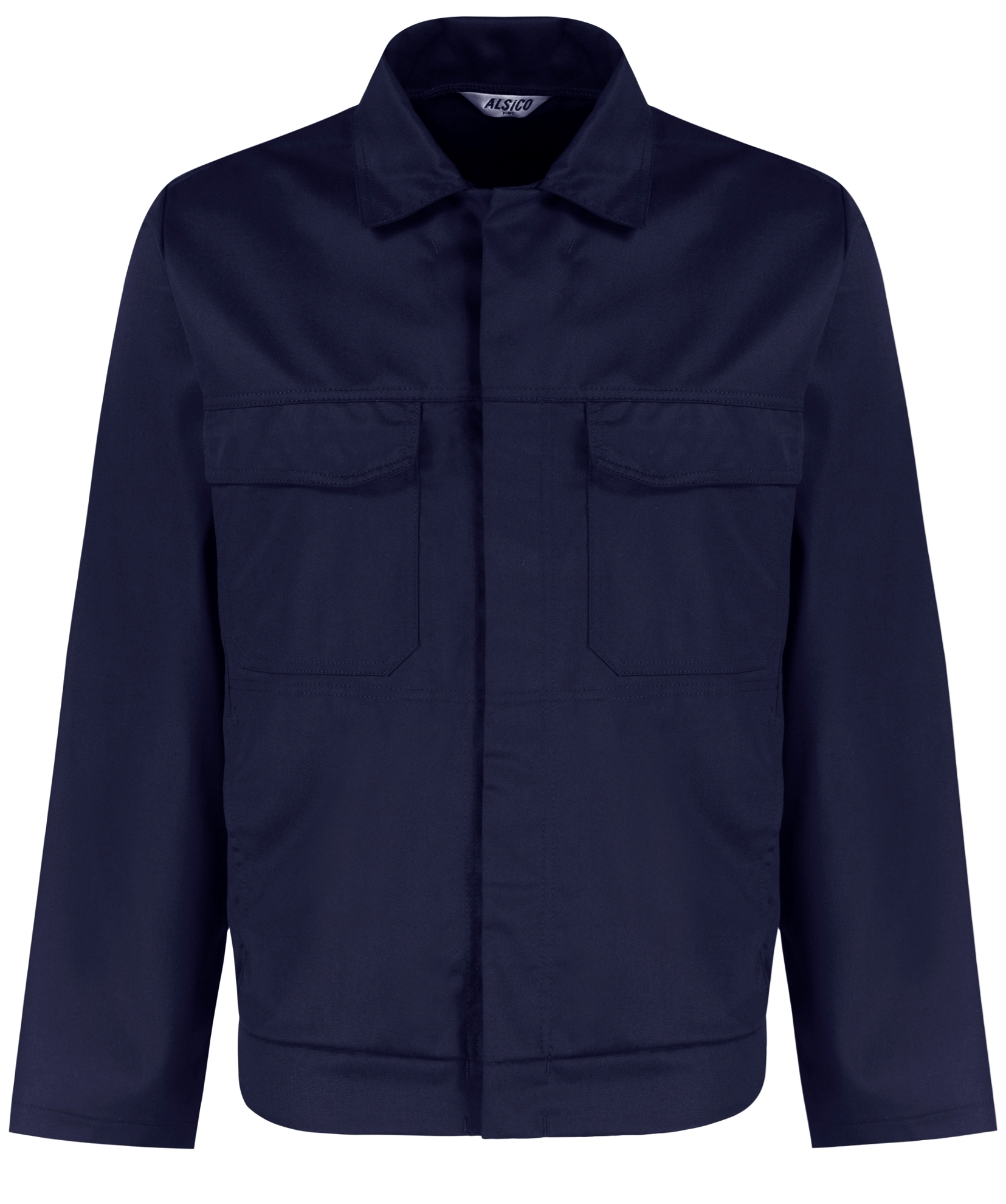 Picture of Polycotton Stud Jacket - Navy
