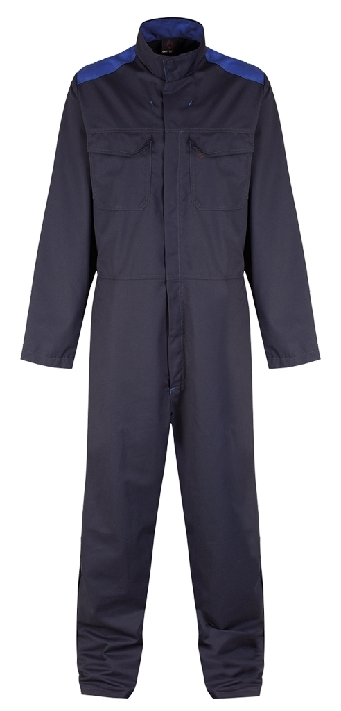Picture of Gryzko Bi Colour Coverall - Navy/Royal Blue